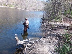 Fly Fishing On Croton River
