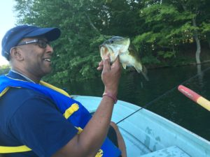"Another bass falling prey to Bill's ""worm"""